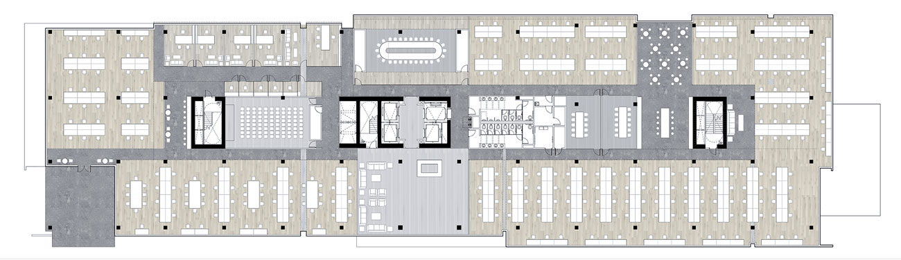 North Tower floor plans